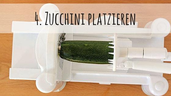zucchini platzieren
